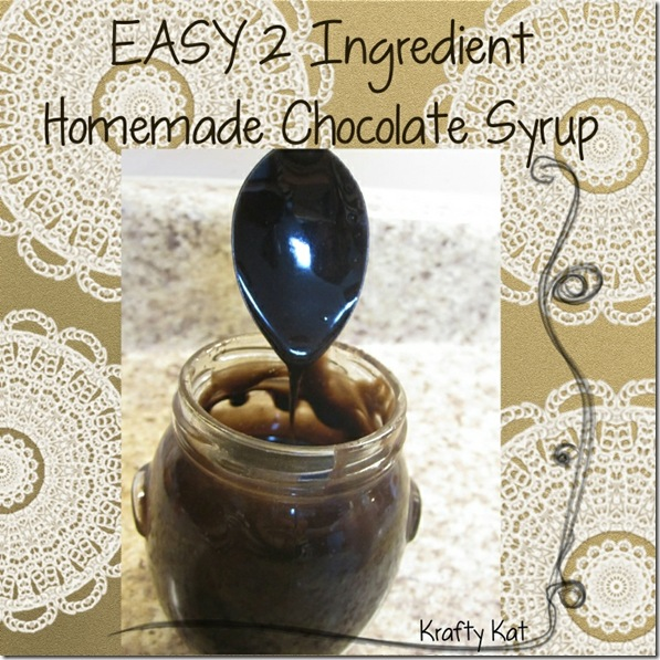 EASY Chocolate Syrup