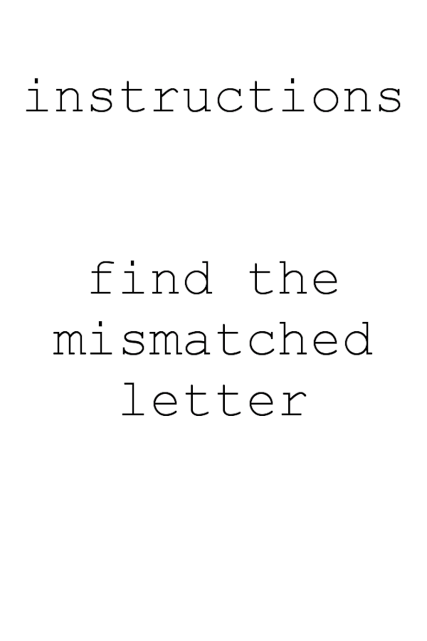 The Impossible Letter Game- screenshot