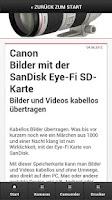 Screenshot of Canon News Mobil