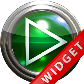 Poweramp Widget Green Glas