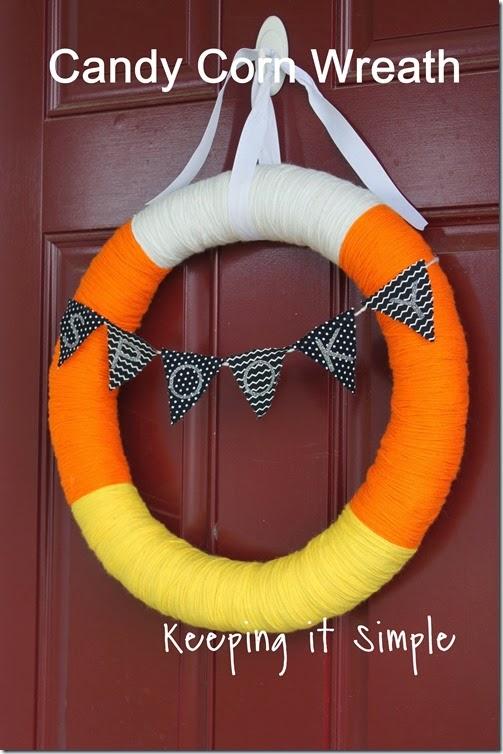Halloween Wreath- Candy Corn Wreath