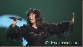 Donna Summer performs at the conclusion of the Nobel Peace concert in Oslo, Norway, on December 11, 2009