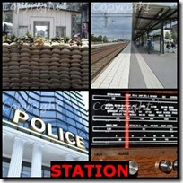 STATION- 4 Pics 1 Word Answers 3 Letters