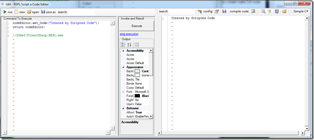 Dinis Cruz Blog: Creating a REPL editor that is linked to a