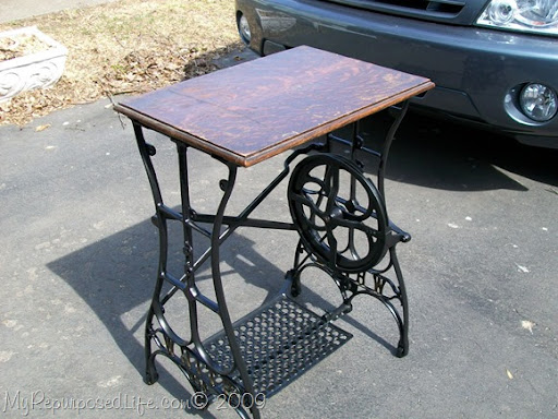 Repurposed Treadle Sewing Machine - My Repurposed Life®