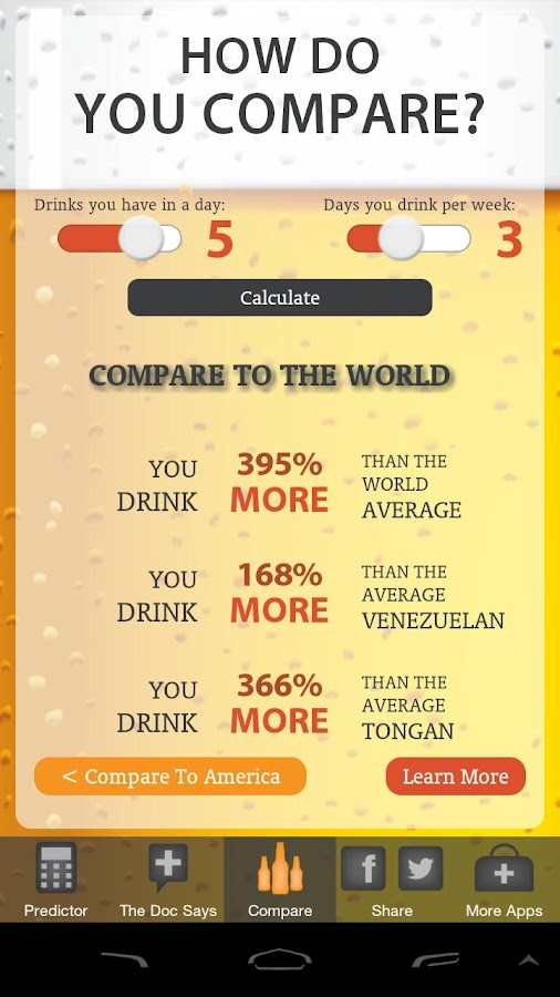 The Alcohol Abuse Predictor - screenshot
