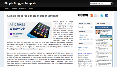 Simple-Blogger-Template