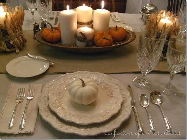 CONFESSIONS OF A PLATE ADDICT Thanksgiving Tablescape 2011