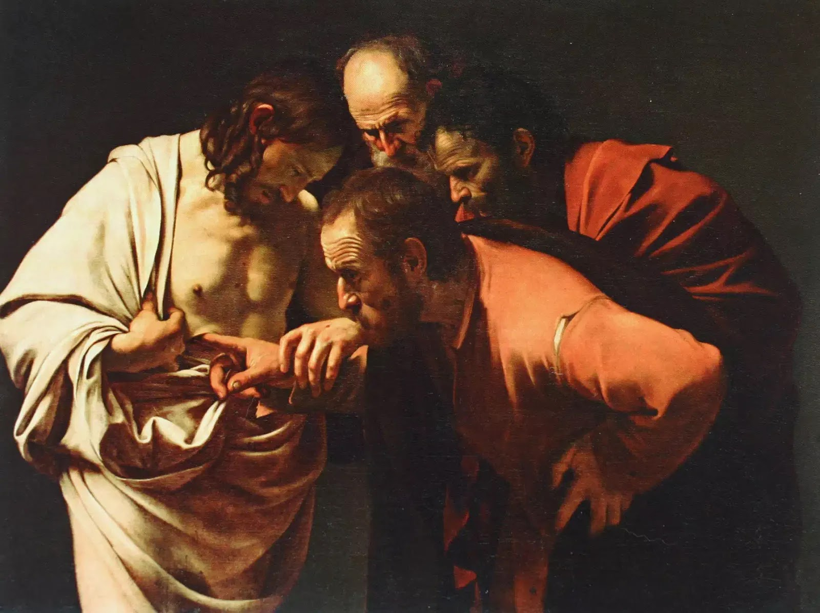 """Về """"sự nghi ngờ của thánh Tôma"""" của Caravaggio"""