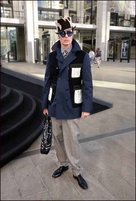 Patrick McDonald  top hat comme des garcons coat ol