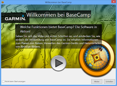 Basecamp Willkommensdialog