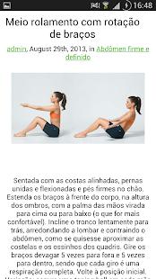 Exercícios de pilates - screenshot thumbnail