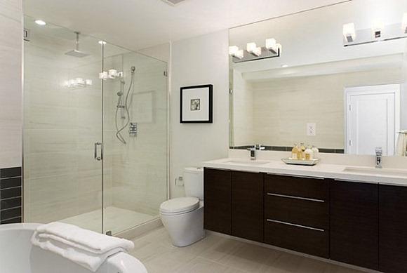 Ideas de iluminación para un cuarto de baño moderno - iDecorar