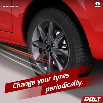 Every 5000 miles or 8000 km change your tyres ie exchange the