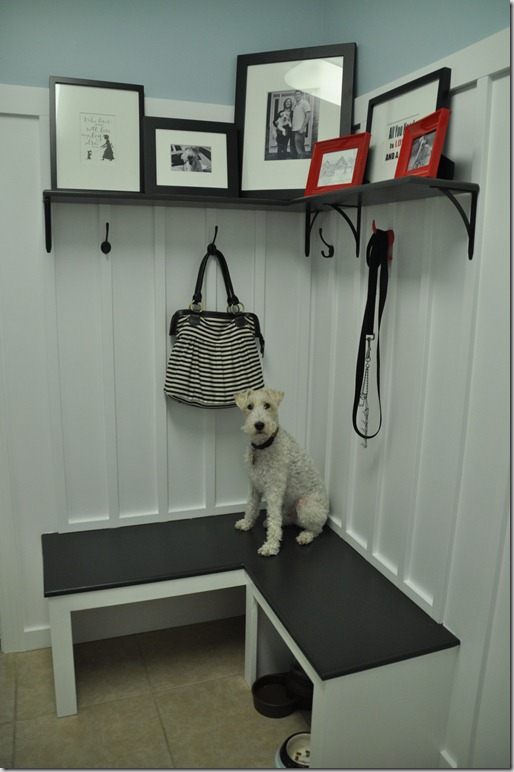 Board and Batten in Mudroom, built-in bench