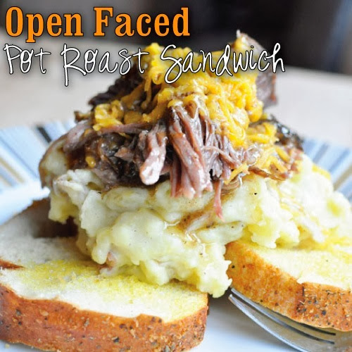 Open Faced Pot Roast Sandwich Recipe #KraftRecipeMakers #shop #cbias