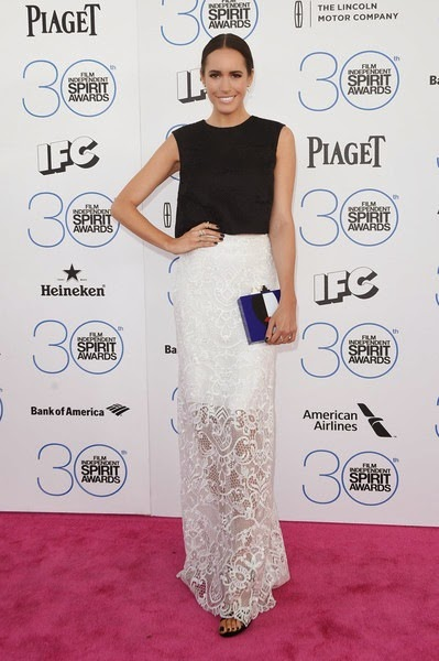 Louise Roe attends the 2015 Film Independent Spirit Awards