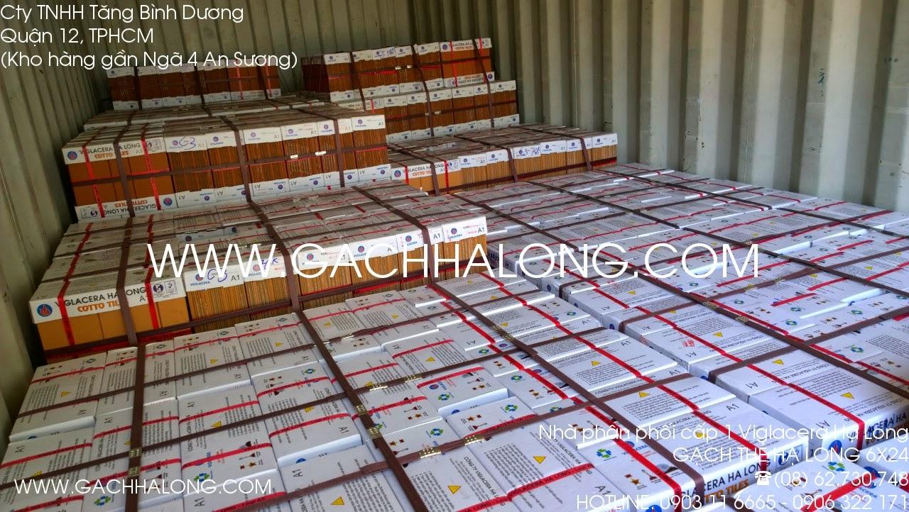 Gạch thẻ Hạ Long trên container