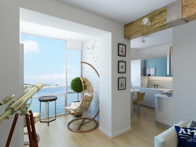 thiết kế nội thất đẹp hơi thở của biển
