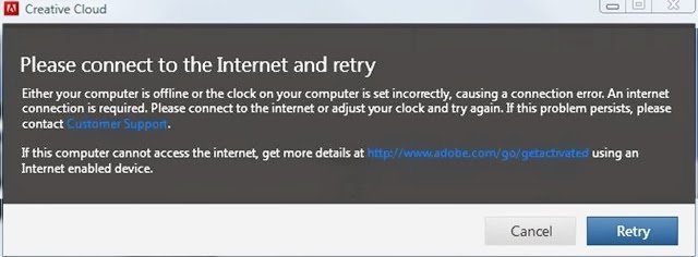 Creative cloud retry