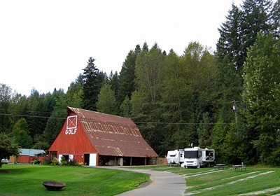 Golf barn and RV sites
