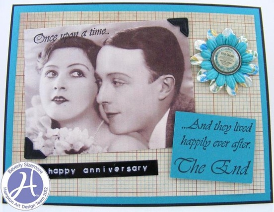 Hampton Art August Project Three Happily Ever After Card