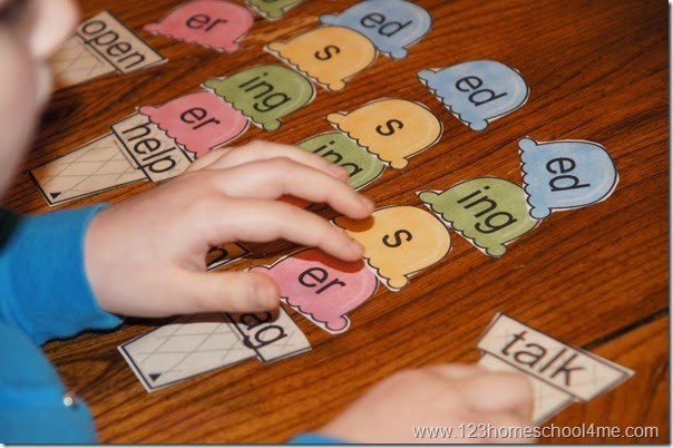 Ice Cream Word Endings Activity for Kids