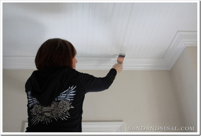 painting bead board ceiling