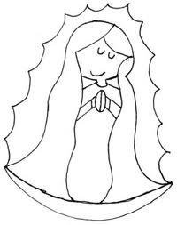 Dibujos De La Virgen Para Colorear