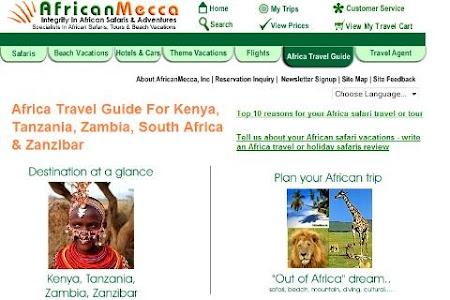 Africa Safari Travel Guide screenshot 0