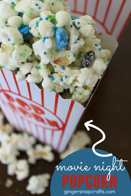 Movie Night Popcorn Recipe at GingerSnapCrafts.com #movienight4less #cbias #ad