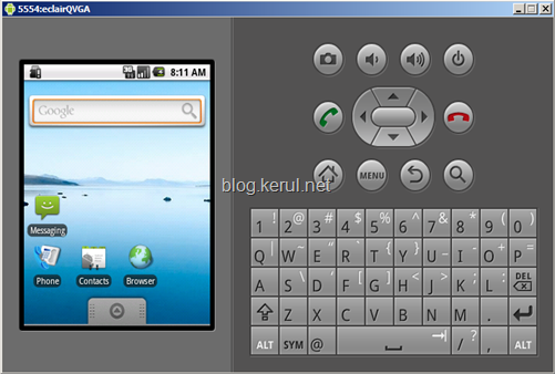 android emulator: running AVD
