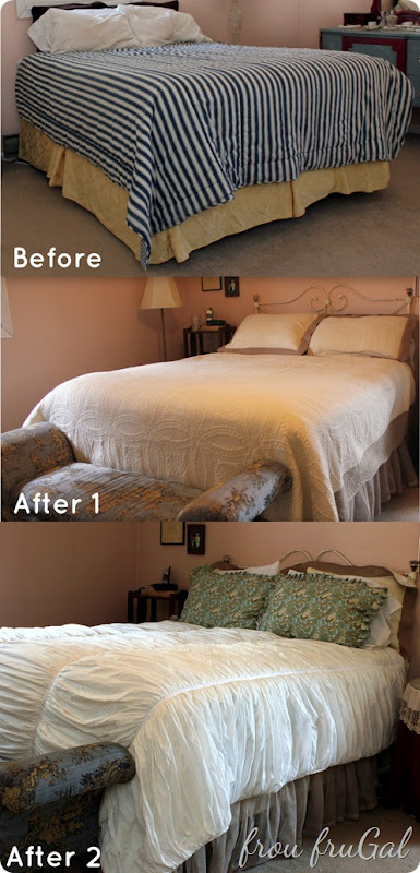 Master Bedroom Makeover–Pottery Barn Knock Off Quilt - frou ...