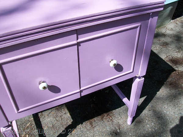 Vintage Sewing Cabinet with Chalk Paint