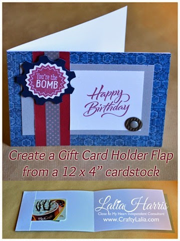 card ProPlay Birthday card with built-in Gift Card Holder