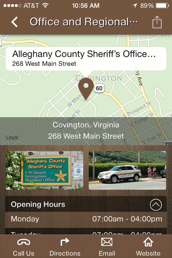 Alleghany Co. Sheriff's Office- screenshot