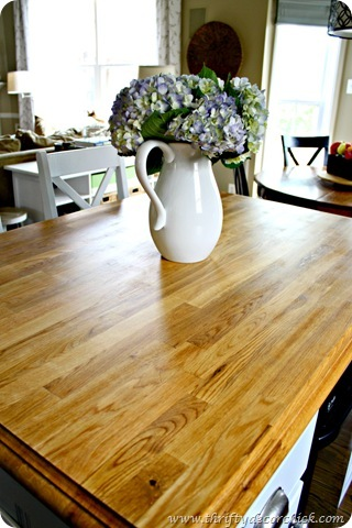 Butcher block love from Thrifty Decor Chick