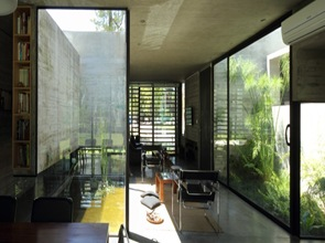 arquitectura de muros con hormigón visto