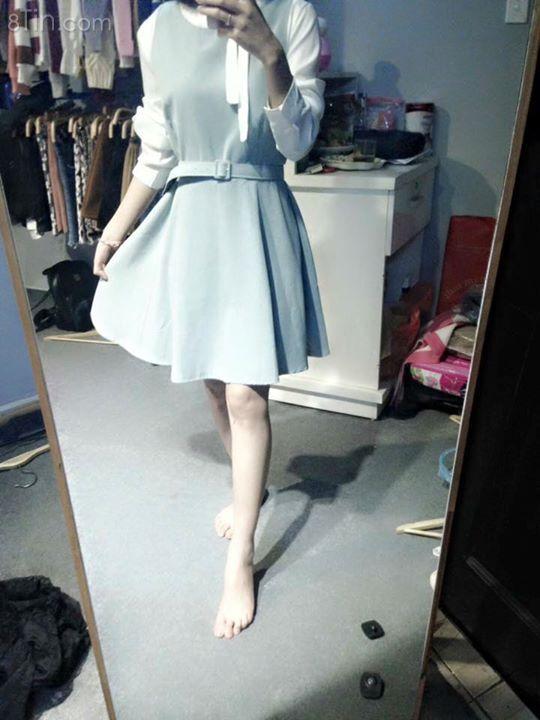 Váy tiểu thư chất da lộn mềm mịn cực xưn luôn ạ