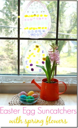 Easter Egg Suncatchers from The Artful Parent