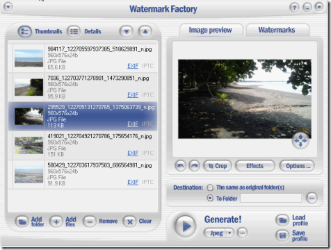 Watermark Factory Main Interface