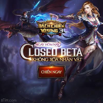 Webgame Bách Chiến Vô Song 3 Đã chính thức Closed Beta Không Xóa Nhân Vật
