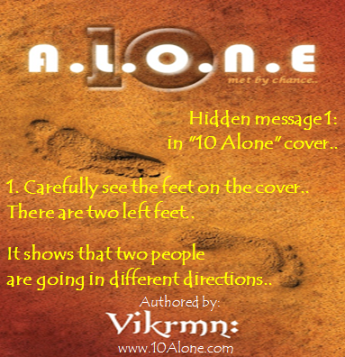10 Alone quote by Vikrmn Message Hidden in Cover CA Vikram Verma