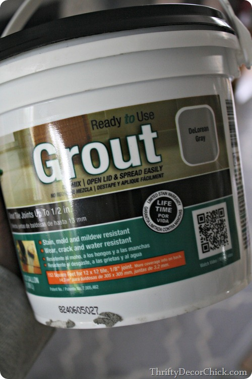 gray grout for tile