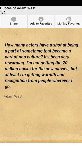 Quotes of Adam West