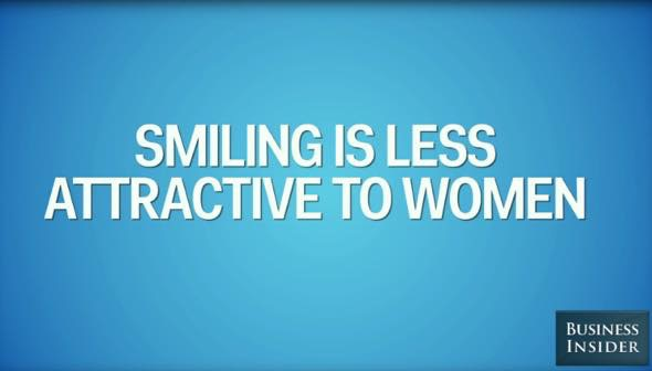 Th smiling less attractive women