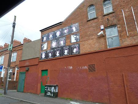 Obiective turistice Belfast: poze martiri catolici