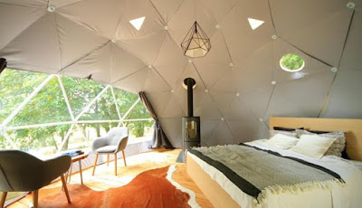These glamping domes from FDomes are eco living pods that look great