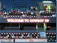 9740 Alberta Calgary Stampede 100th Anniversary - Cowboy Up Challenge Scotiabank Saddledome - sign