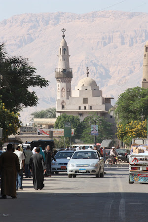 Main street in Luxor Town